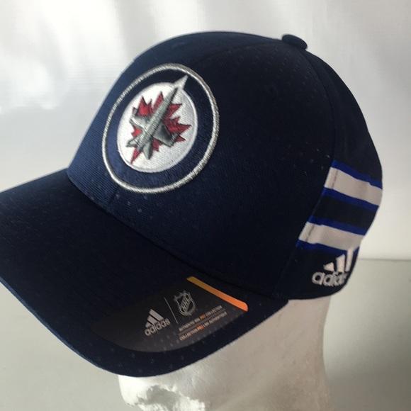 buy popular 14df1 53011 Adidas Winnipeg Jets Hat Flex Fit NHL Pro Sz S/M NWT